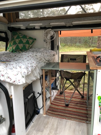 ... and my little campervan writing desk.