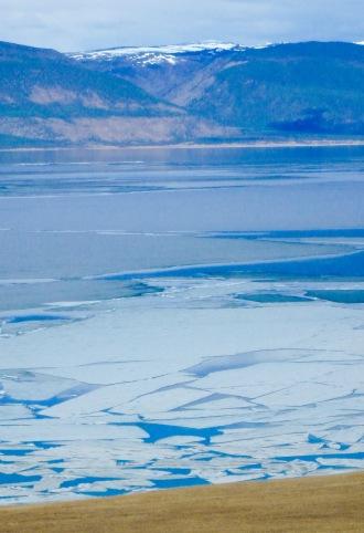 ice on Lake Baikal, May 2015